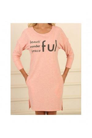 Ночная рубашка НС-М-92 розового цвета