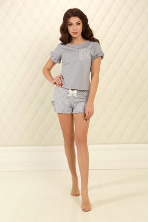 Піжама П-М-75 сірого кольору в зірочки