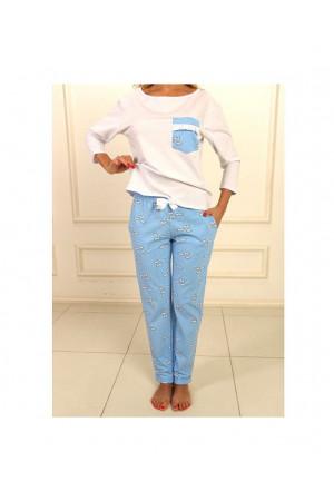 Пижама П-М-77 голубого цвета