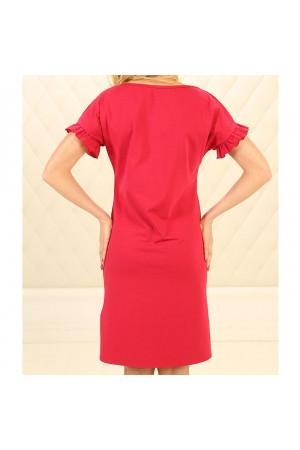 Нічна сорочка НС-М-89 червоного кольору
