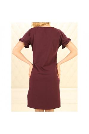 Нічна сорочка НС-М-89 бордового кольору
