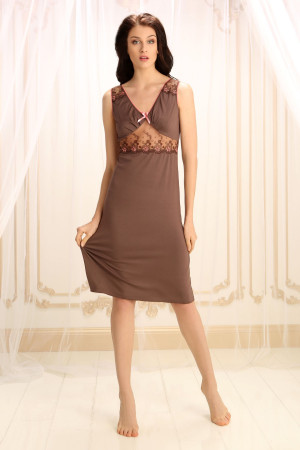 Ночная рубашка М-5 коричневого цвета