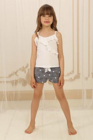 Пижама для девочки ДП-М-2 серого цвета с котиками