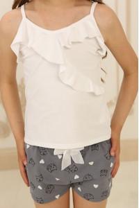 Піжама для дівчинки ДП-М-2 сірого кольору з котиками