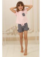 Піжама для дівчинки ДП-М-3 рожевого кольору в горошок