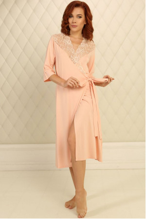 Халат Х-М-34 персикового цвета