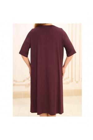 Нічна сорочка НС-М-36 вишневого кольору