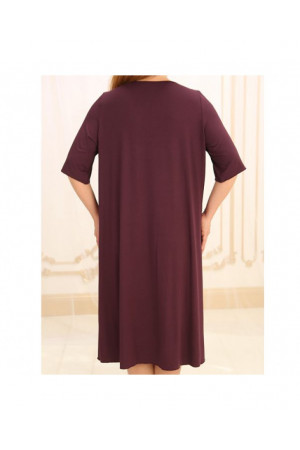 Ночная рубашка НС-М-36 вишневого цвета