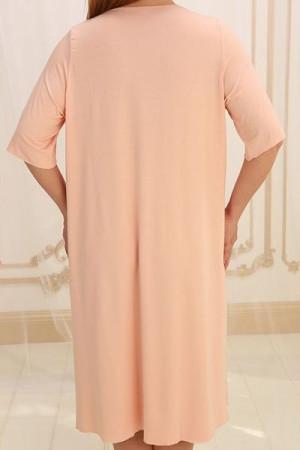 Ночная рубашка НС-М-36 цвета пудры