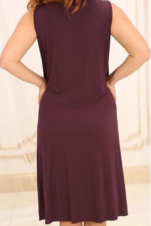 Нічна сорочка НС-М-42 вишневого кольору