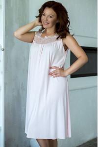 Ночная рубашка НС-М-42 бледно-розового цвета