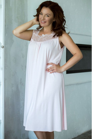 Нічна сорочка НС-М-42 блідо-рожевого кольору