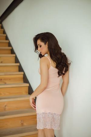 Нічна сорочка НС-М-70 кольору пудри