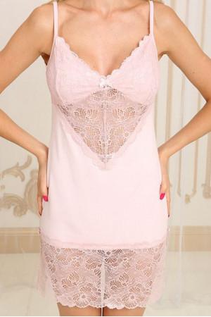 Ночная рубашка НС-М-71 бледно-розового цвета