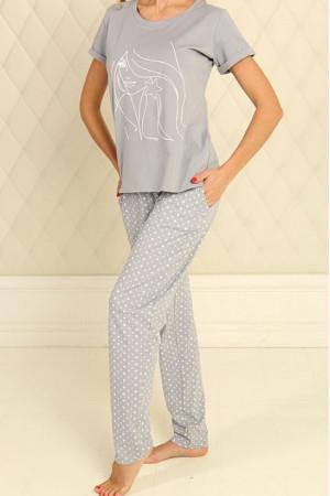 Піжама П-М-51 сірого кольору в зірочки