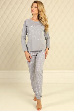 Піжама П-М-58 сірого кольору в зірочки