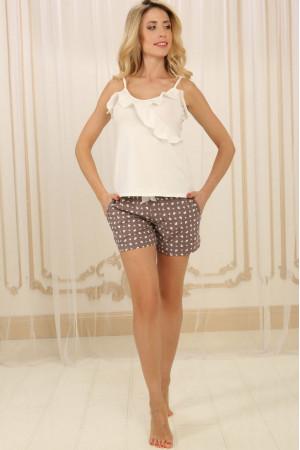 Пижама П-М-73 цвета айвори с сердечками