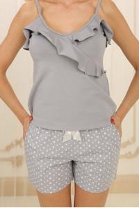 Пижама П-М-73 серого цвета в звездочки