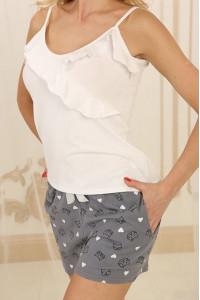 Пижама П-М-73 серого цвета с котиками