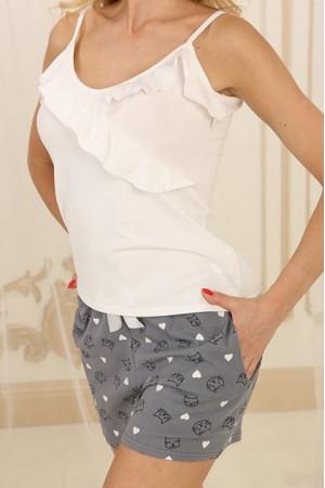 Піжама П-М-73 сірого кольору з котиками