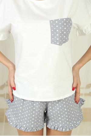 Піжама П-М-75 кольору айворі в зірочки