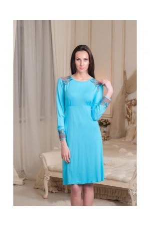 Нічна сорочка НС-М-58 блакитного кольору