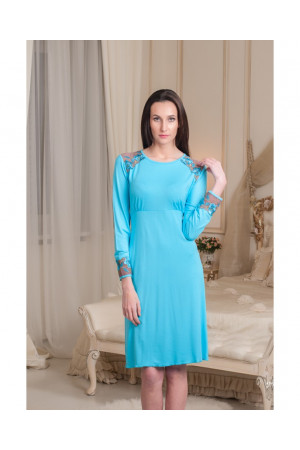 Ночная рубашка НС-М-58 голубого цвета