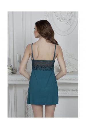 Нічна сорочка НС-М-68 кольору синій топаз