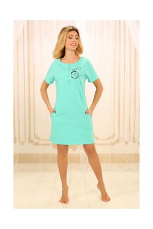 Ночная рубашка НС-М-84 бирюзового цвета