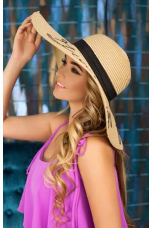 Шляпа «Бэль» темно-бежевого цвета