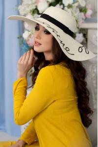 Шляпа «Бэль» молочного цвета