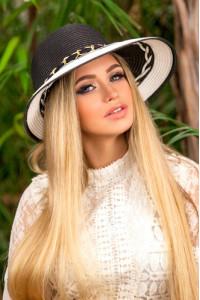 Шляпа «Навона» черно-белого цвета