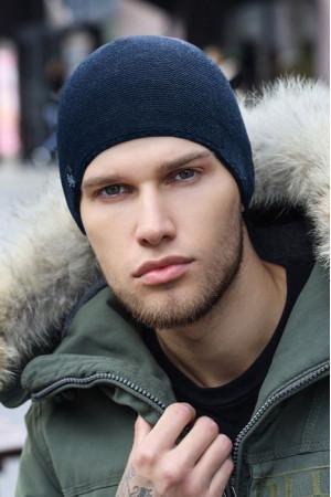 Мужская шапка «Теренс» цвета джинс