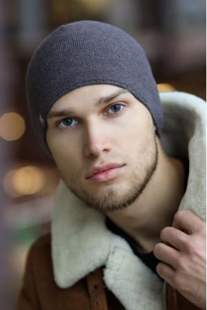 Мужская шапка «Теренс» цвета графит