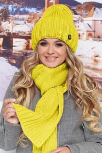 Комплект «Наомі» (шапка, шарф) жовтого кольору