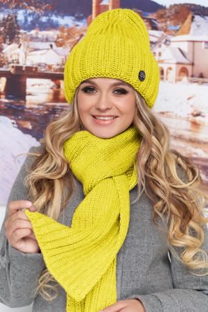 Комплект «Наоми» (шапка, шарф) желтого цвета