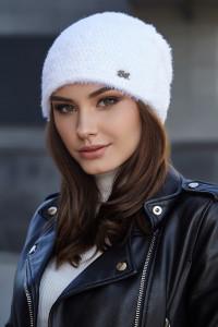 Шапка «Энни» белого цвета