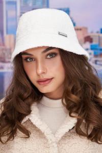 Тепла панама «Ейва» білого кольору