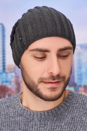 Чоловіча шапка «Флоріан» графітового кольору