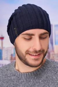 Чоловіча шапка «Флоріан» джинсового кольору