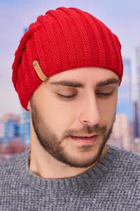 Чоловіча шапка «Флоріан» червоного кольору
