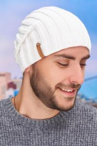 Чоловіча шапка «Флоріан» білого кольору