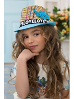 Детская шляпа-федора «Пантон» голубого цвета