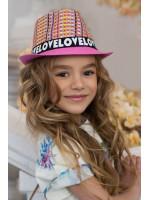 Детская шляпа-федора «Пантон» малинового цвета