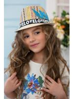 Детская шляпа-федора «Пантон» светло-бежевого цвета