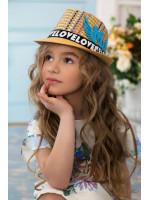 Детская шляпа-федора «Пантон» темно-бежевого цвета