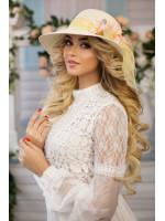 Шляпа «Стелла» светло-бежевого цвета