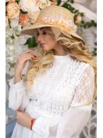 Шляпа «Стелла» бежевого цвета