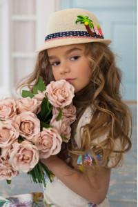 Детская шляпа-федора «Картун» бежевого цвета