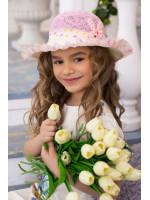 Дитячий капелюх «С'юзі» рожевого кольору